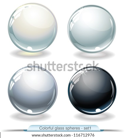 colorful glass spheres. Set 1