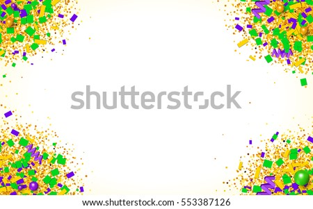 colorful glitter  confetti and