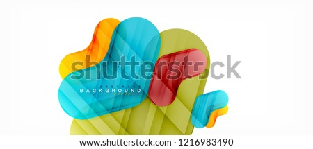 Colorful glossy arrows abstract background, clean modern geometric design #1216983490