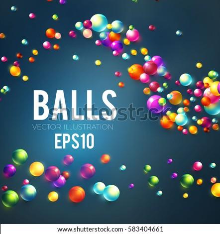 colorful glossy balls