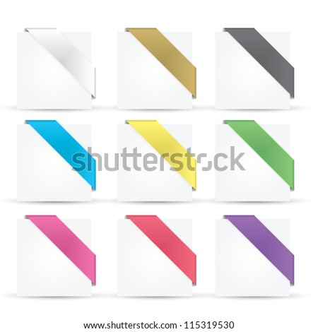 Colorful glossy ribbons eps10 vector