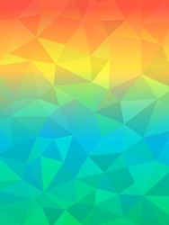 Colorful glow vector background with triangles and gradient, abstract trendy backdrop