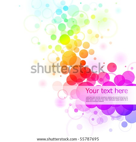 Colorful glowing bubbles background. Vector illustration