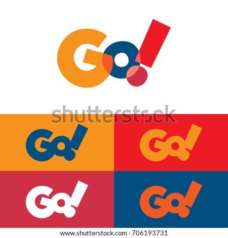 Colorful Go Logo Foto stock ©