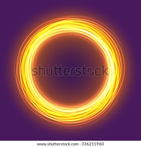 colorful gold glowing rings