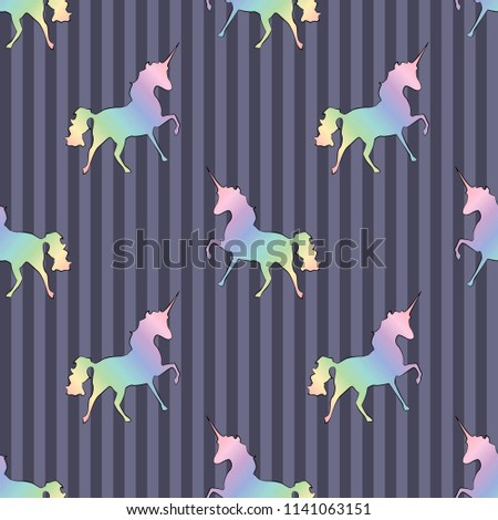 colorful gold unicorn stars