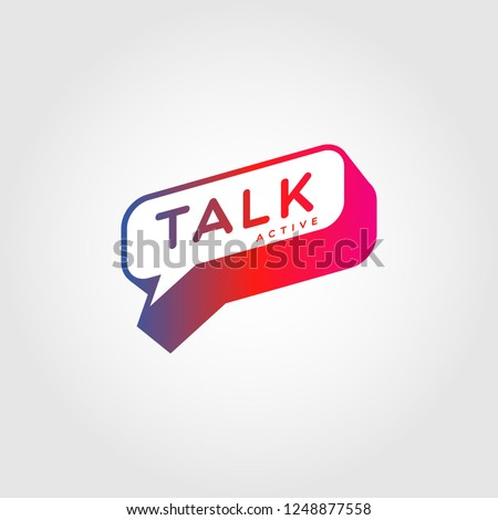 Colorful Gradient Bubble Talk Logo Sign Symbol Icon