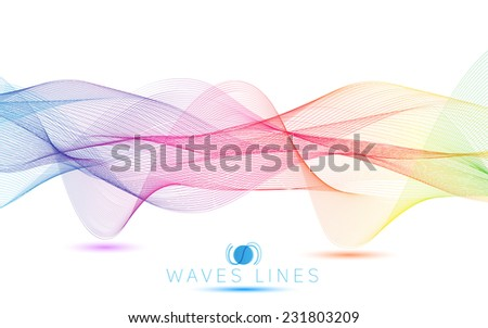 colorful gradient light waves