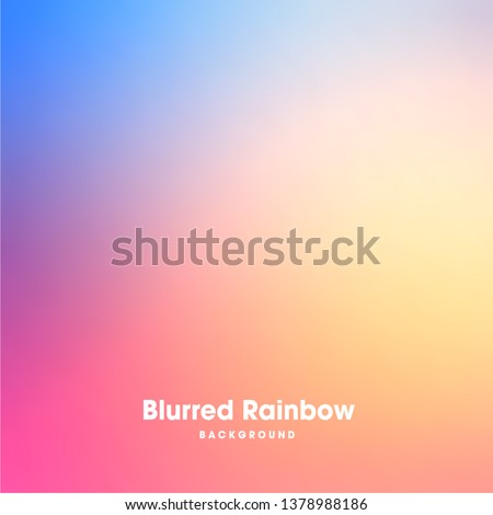 Colorful gradient mesh background in bright rainbow colors. Abstract blurred smooth image. Easy editable soft colored vector illustration in EPS8 without transparency.