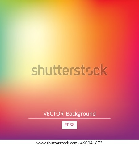 Colorful gradient mesh background in bright rainbow colors. Abstract blurred smooth image. Easy editable soft colored vector illustration in EPS8 without transparency. #460041673
