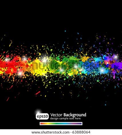 Colorful gradient paint splashes vector background. Modern vector illustration. Eps10.