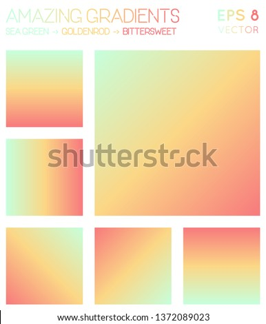 colorful gradients in sea green