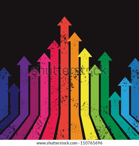 colorful graph with arrow