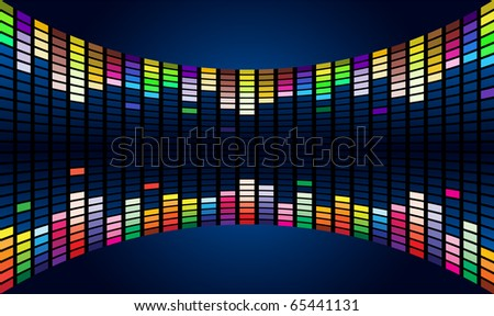 Colorful Graphic Equalizer Display (editable vector) #3