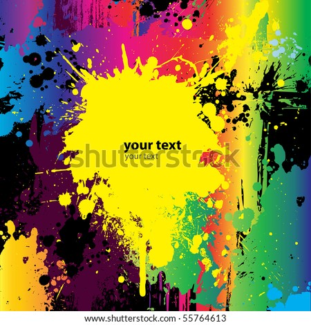 Colorful Grunge Abstract Background. Vector