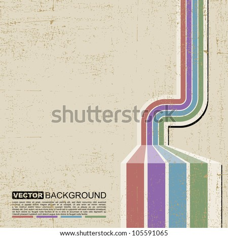 Colorful grunge background - vector