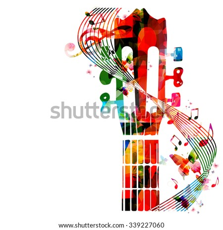 colorful guitar fretboard with