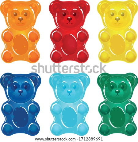 Colorful gummy bears for kids Stock foto ©