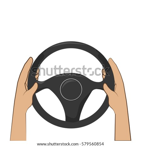 colorful hands with steering wheel #579560854