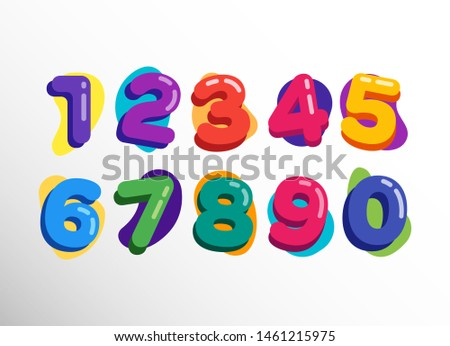 Colorful Happy Baloon Kids Numbers