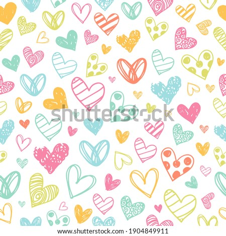 colorful heart doodles love
