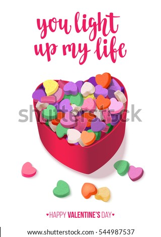 colorful hearts candy for
