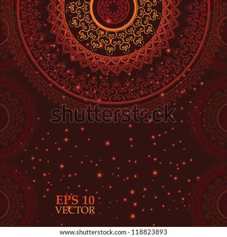 Colorful Henna Mandala design, very elaborate and easily editable