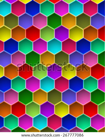 Colorful Hexagon Vector Background
