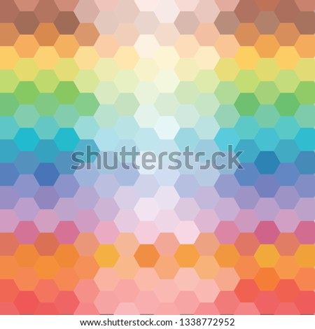 colorful hexagonal background. geometric design. polygonal style