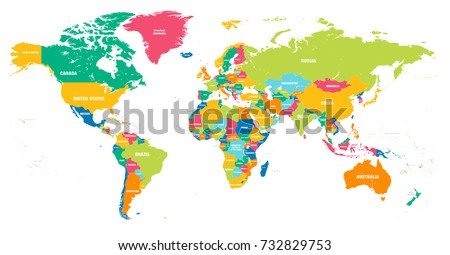 Map Of Earth Countries.World Countries Map Vector Download Free Vector Art Stock