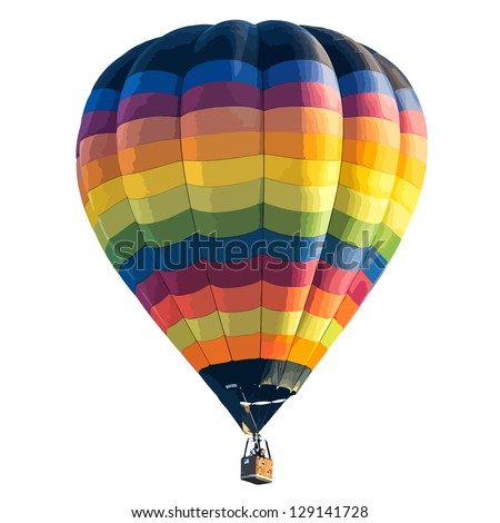 Colorful Hot air balloon isolated on white background. vector format