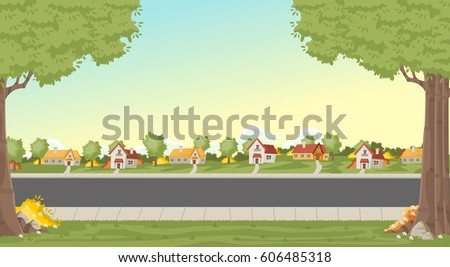 colorful houses in suburb