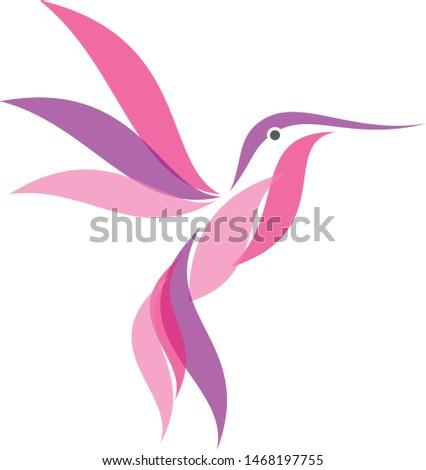 Colorful Hummingbird icon symbol in modern flat style. Hummingbird vector symbol for element design. Vector illustration EPS.8 EPS.10