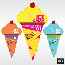 Colorful ice cream vector.EPS10