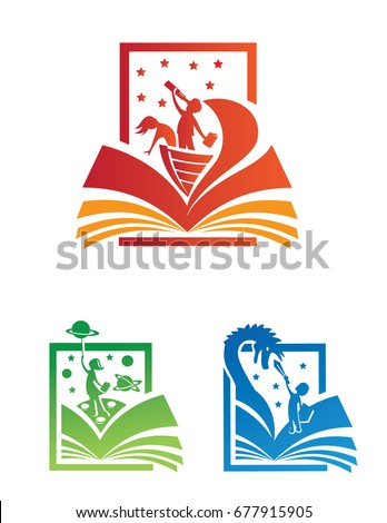 colorful icon and logo set of