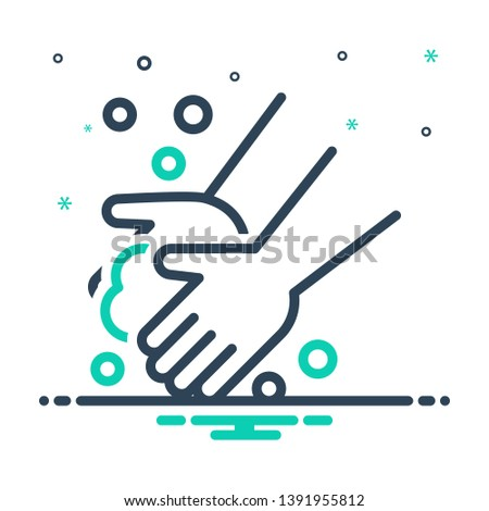 Colorful icon for washing hand
