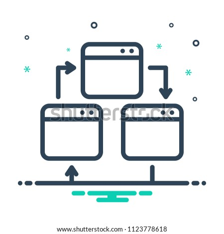 colorful icon for webpage