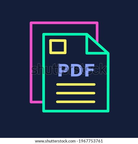 Colorful icon of a PDF file