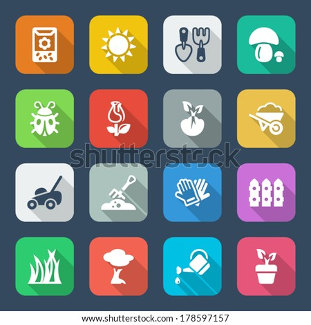 colorful icons set for