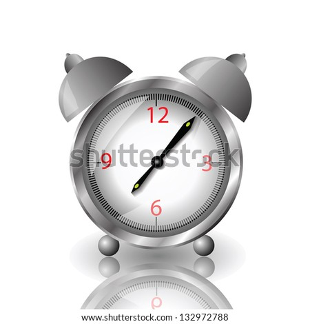 colorful illustration with alarm clock  for your design