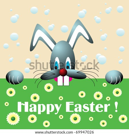 happy easter bunny cartoon. happy easter bunny cartoon.
