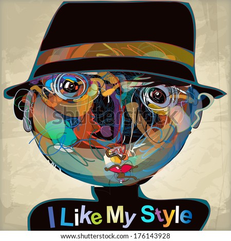 colorful imaginative kid