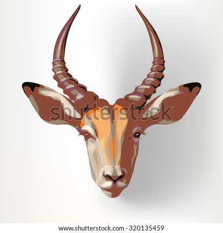 colorful impala face painting