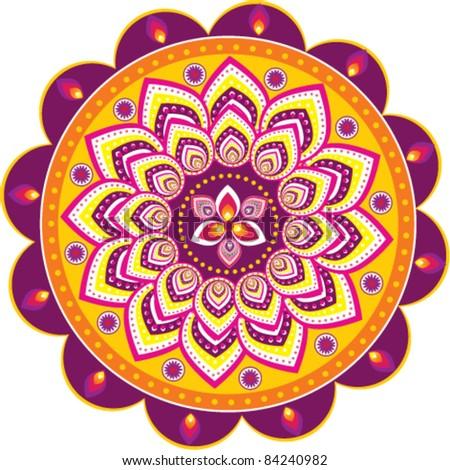 Индийские круги в узорах