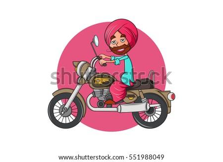 colorful indian punjabi sardar...