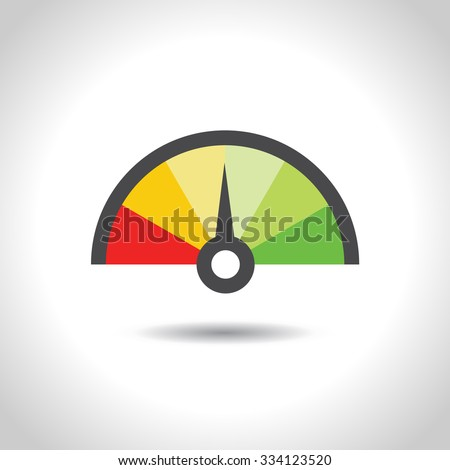 colorful info graphic gauge