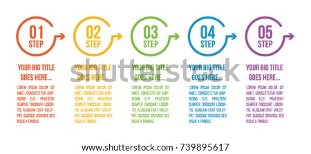 colorful infographic in five