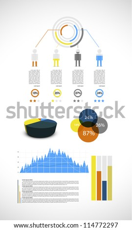 Colorful infographic, vector illustration