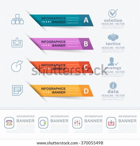 Colorful Infographics Elements, Website Numbers Banner Design