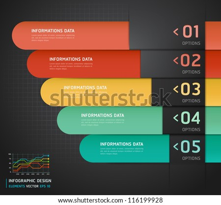 Colorful Infographics Number Options Banner & Card. Vector illustration